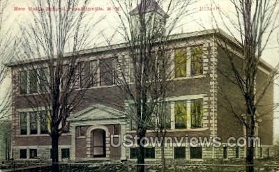 New Union School - Franklinville, New York NY Postcard