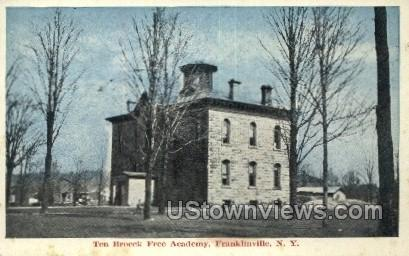 Free Academy - Franklinville, New York NY Postcard