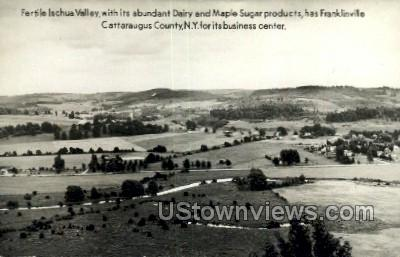Fertile Ischua Valley - Franklinville, New York NY Postcard