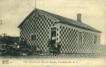 Old Checkered School - Franklinville, New York NY Postcard