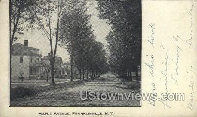 Maple Ave - Franklinville, New York NY Postcard