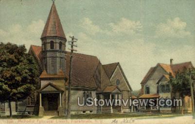 M.E. Church - Franklinville, New York NY Postcard