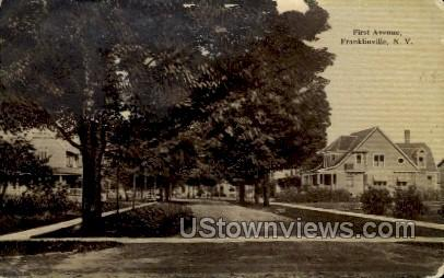 First Ave - Franklinville, New York NY Postcard