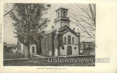 Baptist Church - Fulton, New York NY Postcard