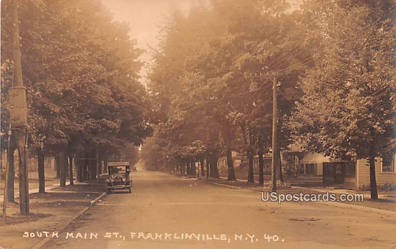 South Main Street - Franklinville, New York NY Postcard
