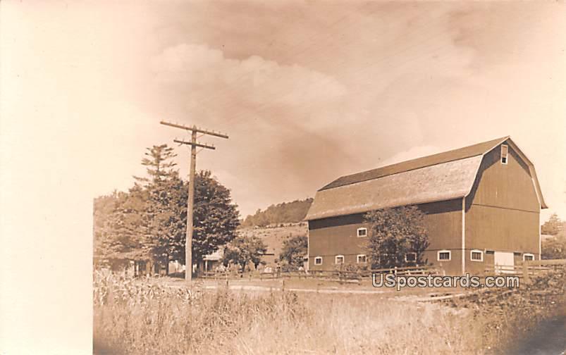 Barn - Franklinville, New York NY Postcard