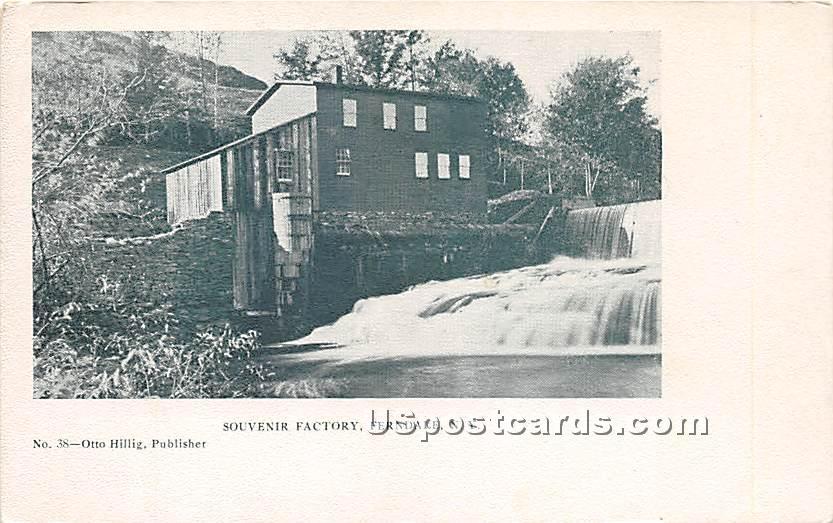 Souvenir Factory - Ferndale, New York NY Postcard