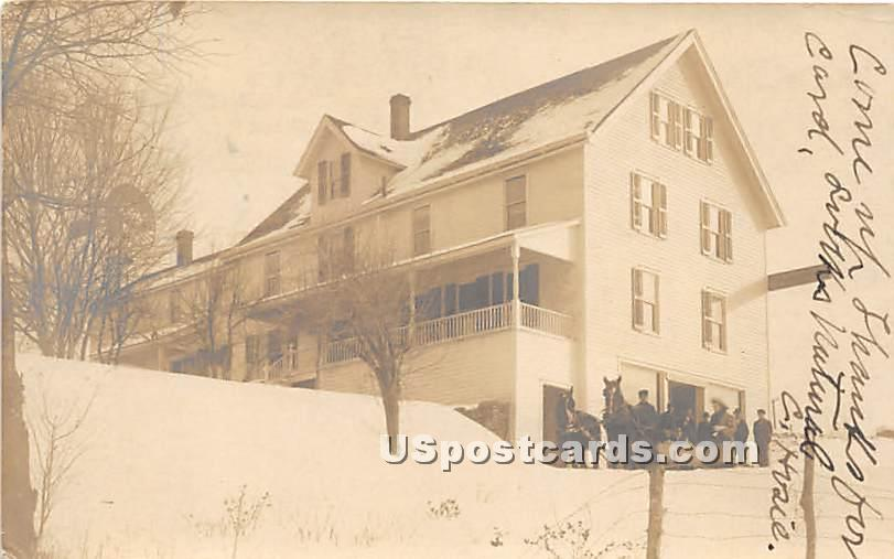 Winter Scene - Ferndale, New York NY Postcard