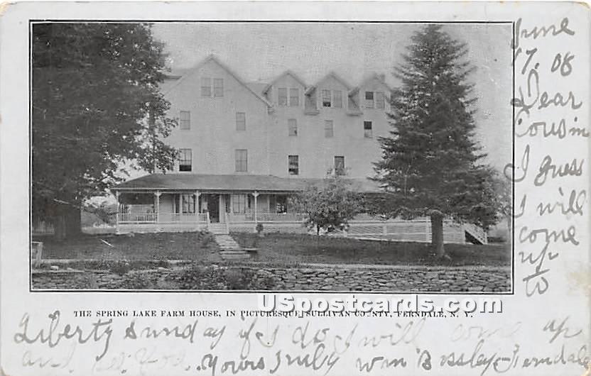 Spring Lake Farm House - Ferndale, New York NY Postcard