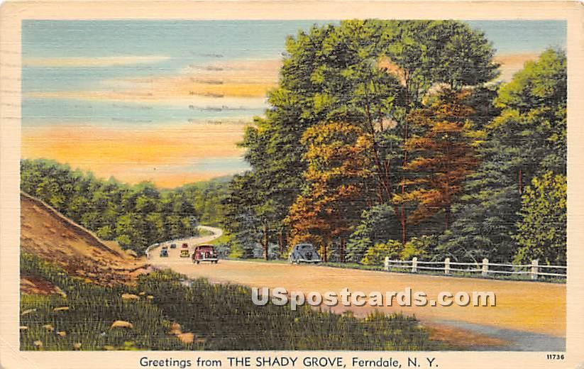 The Shady Grove - Ferndale, New York NY Postcard