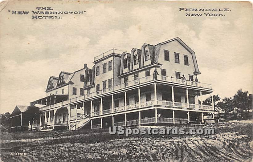 New Washington Hotel - Ferndale, New York NY Postcard