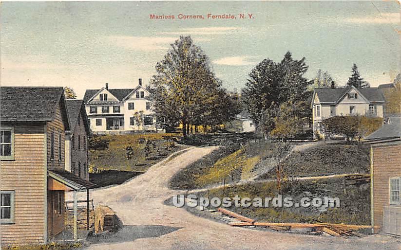 Manions Corner - Ferndale, New York NY Postcard