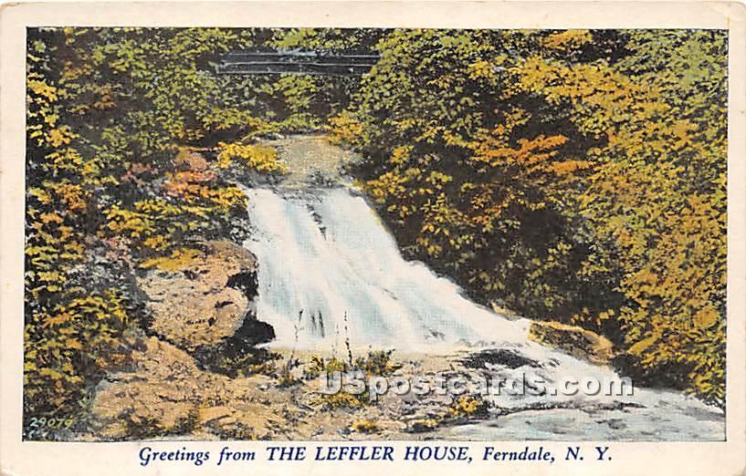 The Leffler House - Ferndale, New York NY Postcard