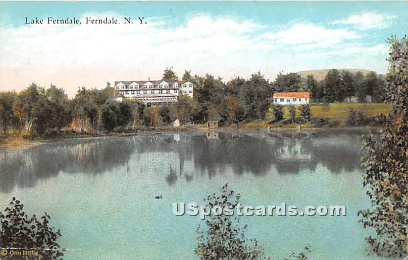 Lake Ferndale - New York NY Postcard