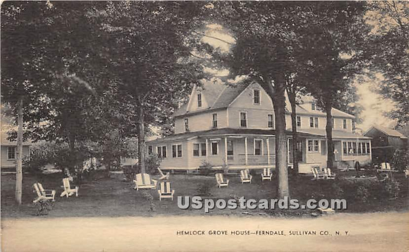 Hemlock Grove House - Ferndale, New York NY Postcard