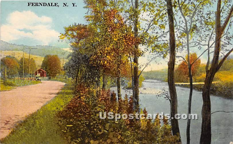 Water Scene - Ferndale, New York NY Postcard