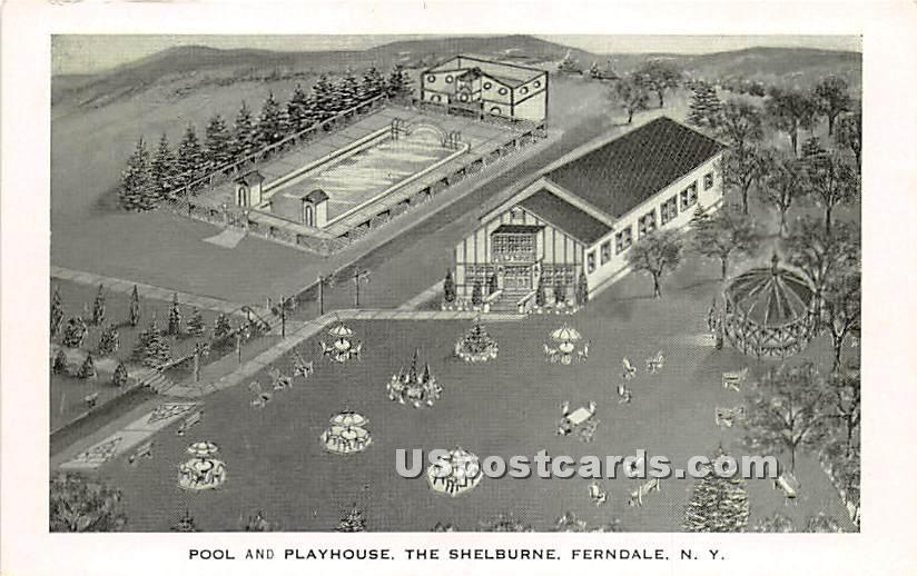 The Shelburne Hotel - Ferndale, New York NY Postcard
