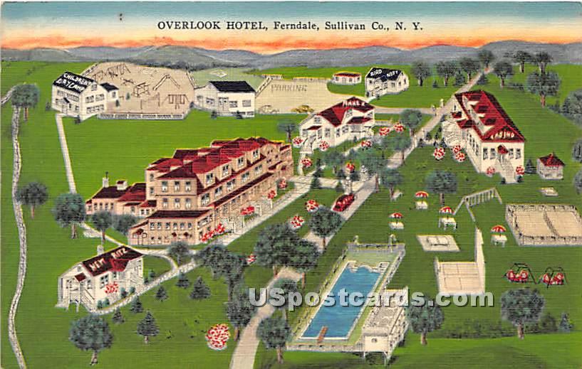 Overlook Hotel - Ferndale, New York NY Postcard