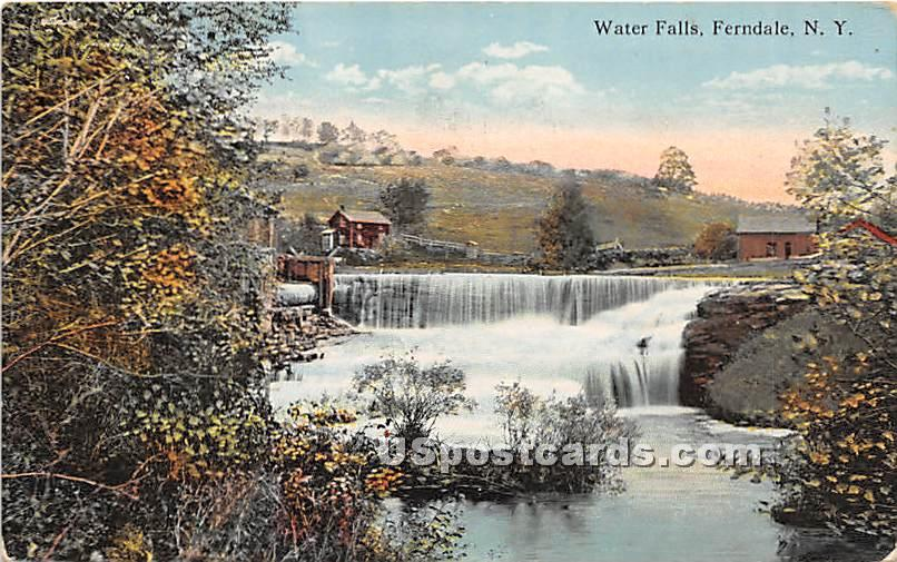 Water Falls - Ferndale, New York NY Postcard