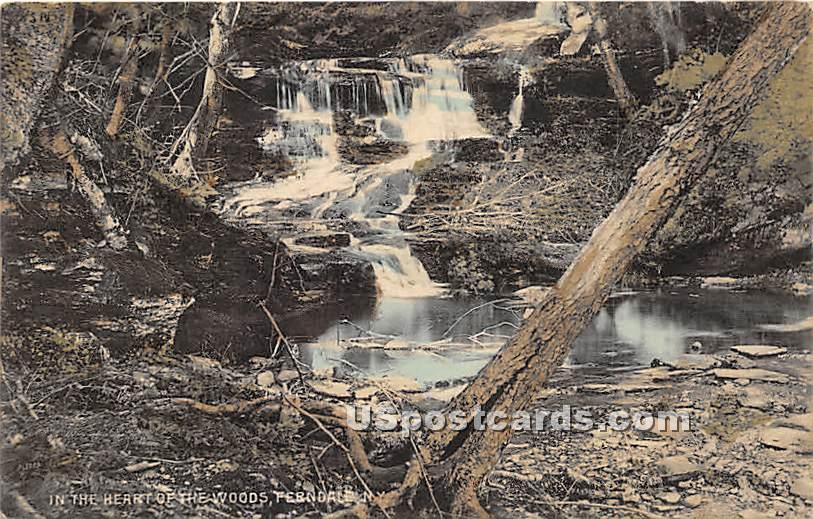 Heart of the Woods - Ferndale, New York NY Postcard