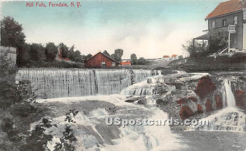 Mill Falls - Ferndale, New York NY Postcard