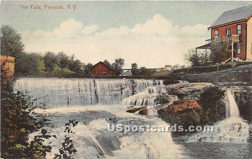 The Falls - Ferndale, New York NY Postcard