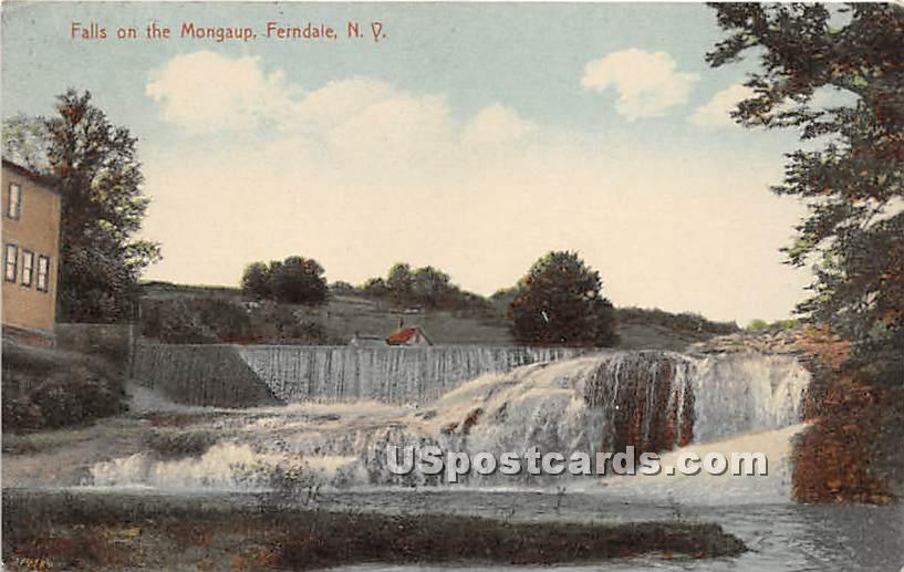 Falls on the Mongaup - Ferndale, New York NY Postcard