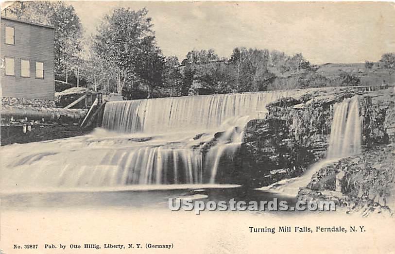 Turning Mill Falls - Ferndale, New York NY Postcard