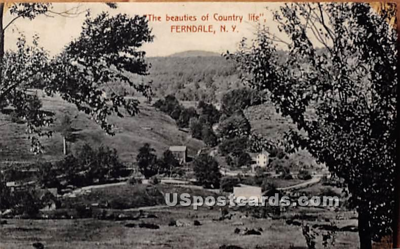 Beauties of Country Life - Ferndale, New York NY Postcard