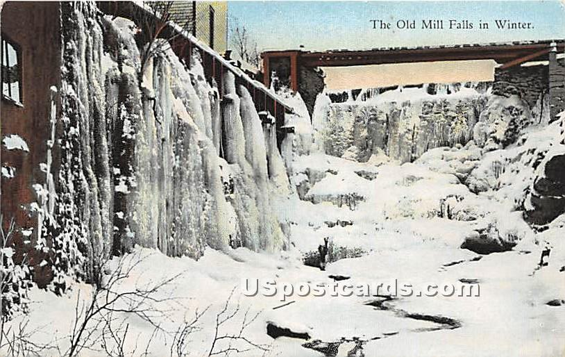 Old Mill Falls - Ferndale, New York NY Postcard