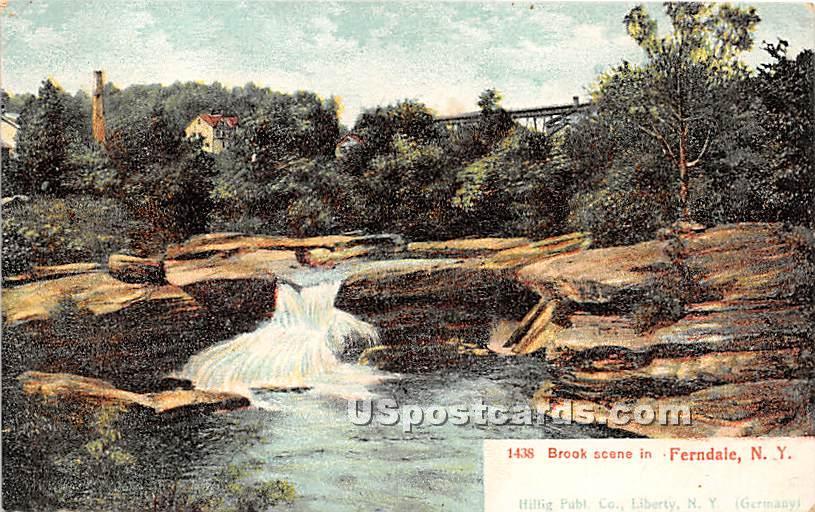 Brook Scene - Ferndale, New York NY Postcard