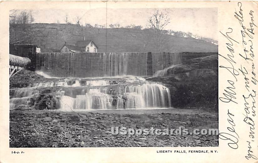Liberty Falls - Ferndale, New York NY Postcard
