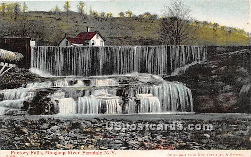 Factory Falls - Ferndale, New York NY Postcard