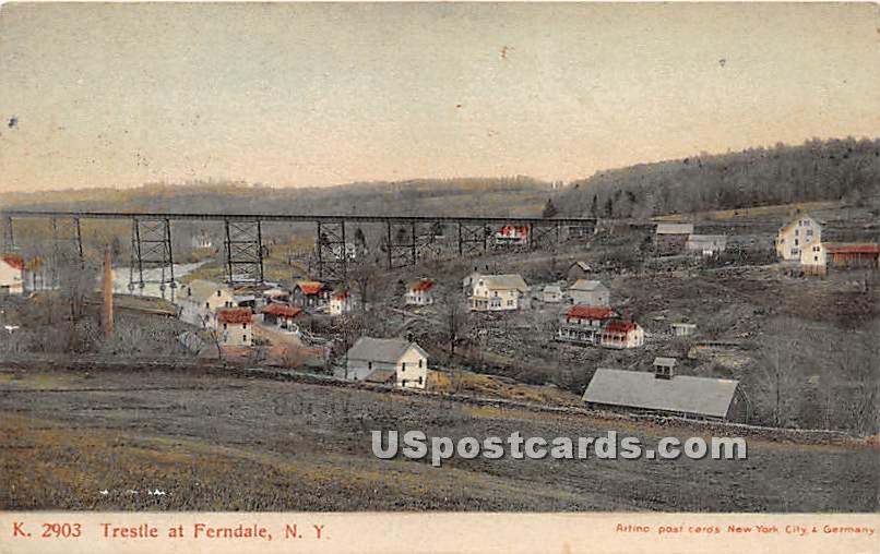 Trestle - Ferndale, New York NY Postcard