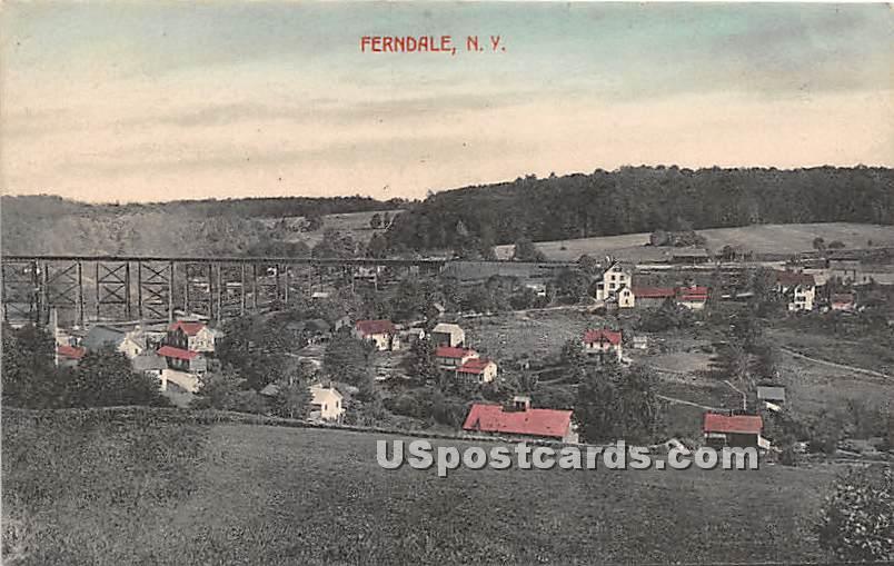 Birds Eye View - Ferndale, New York NY Postcard