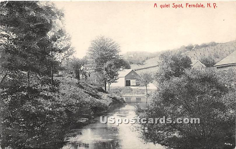 Quiet Spot - Ferndale, New York NY Postcard