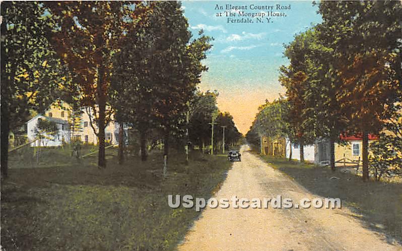 Elegant Country Road - Ferndale, New York NY Postcard