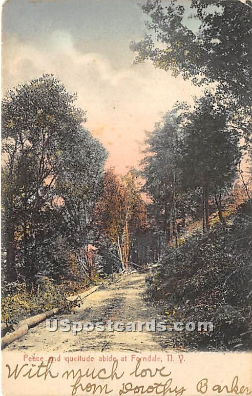 Peace and Queitude - Ferndale, New York NY Postcard
