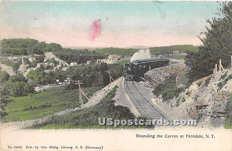 Rounding the Curves - Ferndale, New York NY Postcard