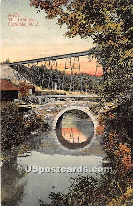 The Bridges - Ferndale, New York NY Postcard