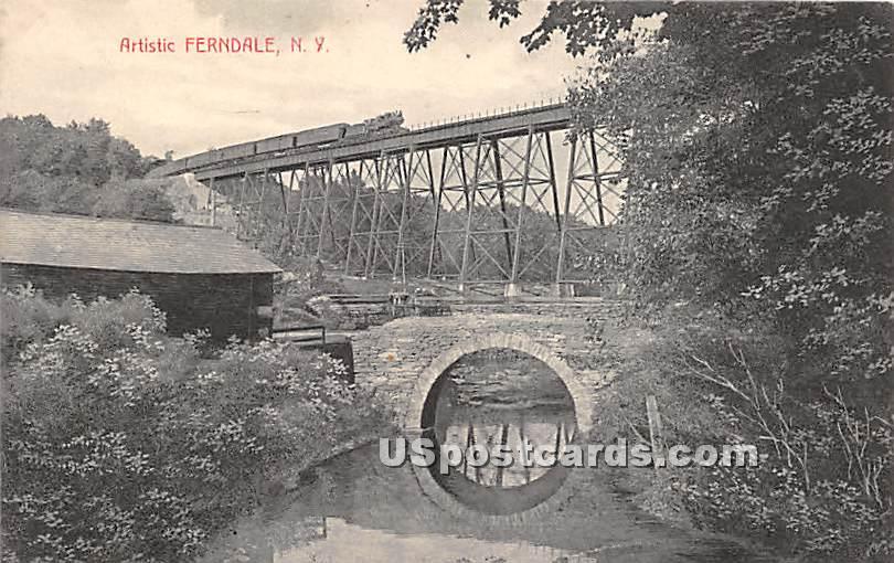 Artistic Trestle - Ferndale, New York NY Postcard