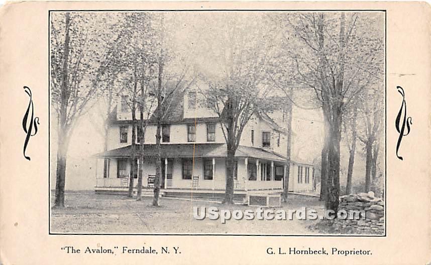 The Avalon - Ferndale, New York NY Postcard