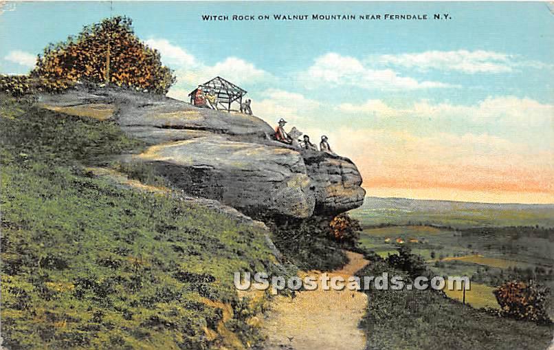 Witch Rock on Walnut Mountain - Ferndale, New York NY Postcard
