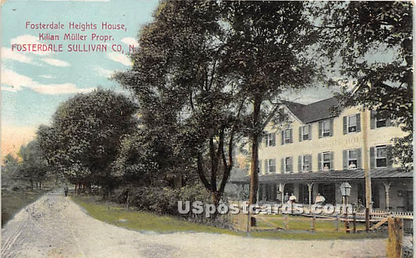 Fosterdale Heights House - New York NY Postcard