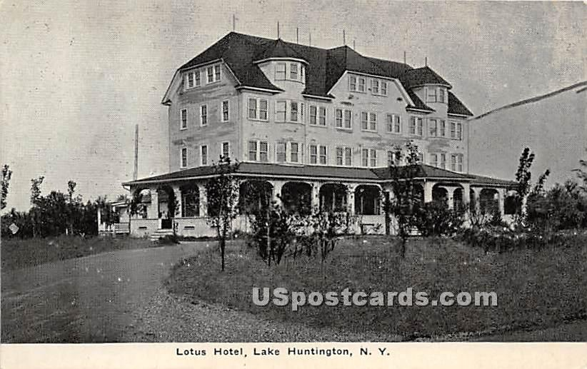 Lotus Hotel - Fosterdale, New York NY Postcard