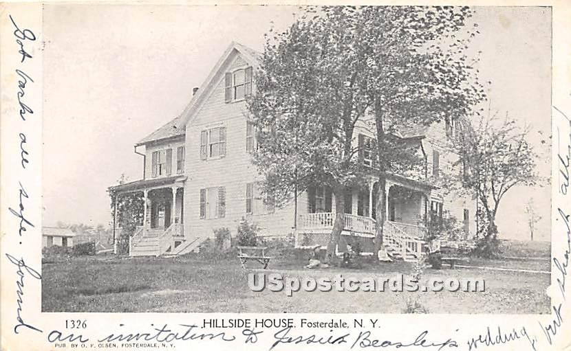 Hillside House - Fosterdale, New York NY Postcard