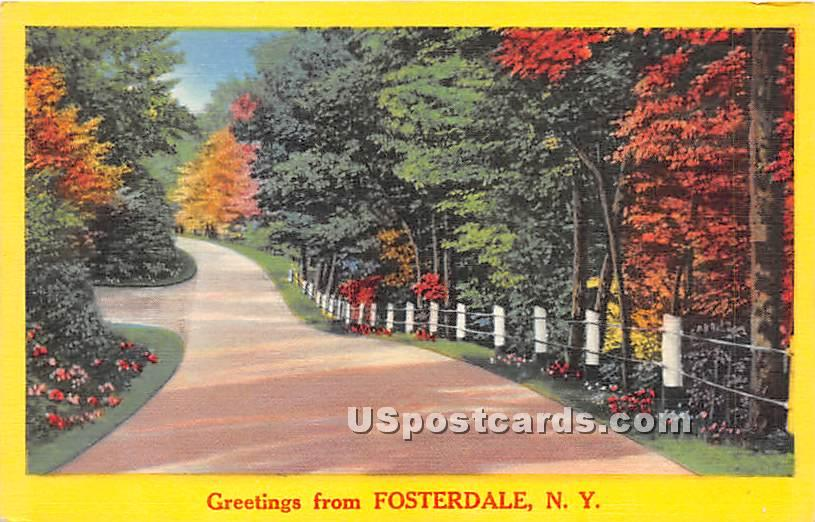 Greetings from - Fosterdale, New York NY Postcard