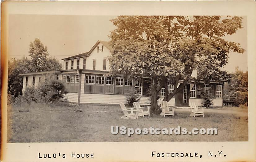 Lulo's House - Fosterdale, New York NY Postcard