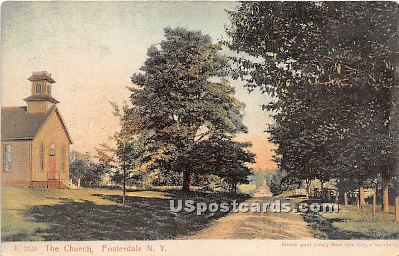 The Church - Fosterdale, New York NY Postcard
