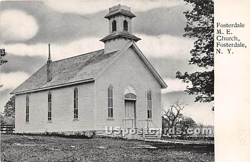 Fosterdale M E Church - New York NY Postcard
